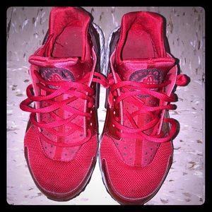 Nike Red Huarache Sneakers